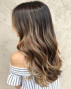 Dark Blonde Balayage For Brown Hair. Ash to neutral base, beige balayage Dark Blonde Balayage, Hair Color Balayage, Hair Highlights, Balyage Brunette, Balayage Highlights Brunette, Bronde Hair Dark, Long Brunette, Color Highlights, Highlights For Brunettes