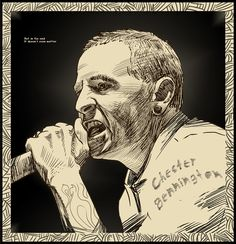 Chester Bennington Linkin Park art  2D pictures Illustration draw fanart