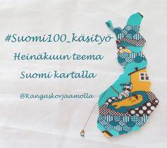Suomi-teema käsitöissä tekee juhlavuodesta erityisen.