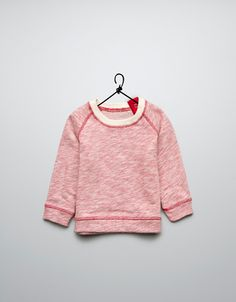 velour jumper with hook and eye closure at back - Cardigans and sweaters - Baby boy (3-36 months) - Kids - ZARA China