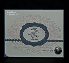 Winter Iceskating Thinking of YOU card stampin up by thenry8300, $3.40