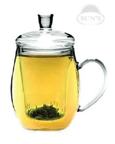 $12.99 Sun's Tea (TM) 12oz Personal All Glass Made Tea Infuser & Mug (Teapot): Amazon.com: Kitchen & Dining