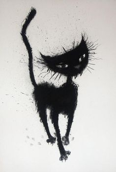 Illustration art · cat illustrations · cat by margaret anna bennett i love cats, crazy cats, here kitty kitty, Morpheus Sandman, Black Cat Art, Black Cats, Cat Drawing, Cat Tattoo, Halloween Art, Beautiful Cats, Oeuvre D'art, Cat Life