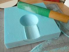 sanding concave niche