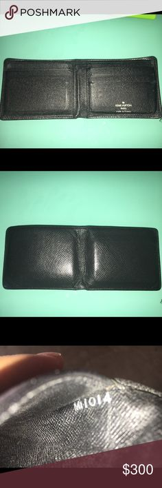 LOUIS VUITTON MULTIPLE TAIGA LEATHER WALLET GUARANTEED 100% AUTHENTIC!!! I originally purchased this item at the Louisville Thanh store about 10 years ago! My husband used it for about a year this item is in excellent condition, NO scratches, NO tears! This item is considered VINTAGE do to the fact that this model is no longer sold! They have made the same exact wallet but in the inside on the right side they changed the look of the first slot!  DATE CODE: MI1014 please let me know if you…