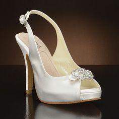 angela nuran lamour white & ivory  Wedding Shoes