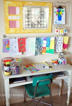 Craft-O-Maniac: Kids Art & Homework Station