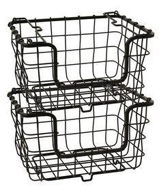 Loving this Orchard Collection Stacking Storage Basket - Set of Two on #zulily! #zulilyfinds