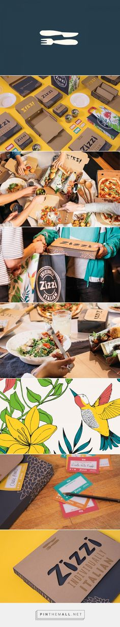 Zizzi Italian Restaurant Branding by Shane Goldberg | Fivestar Branding Agency – Design and Branding Agency & Curated Inspiration Gallery #branding #packaging #packagingdesign #design #designinspiration