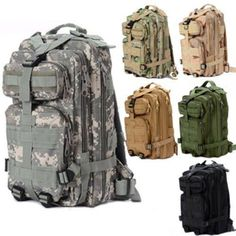 Tactical MOLLE Military Backpack-Camping, Hiking, Trekking, Airsoft #Unbranded
