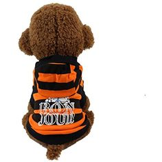 Kim88 Cute Pet Dog Cat T-shirt With Hat Clothing Small Puppy Costume (L) *** Visit the image link more details. (This is an affiliate link) #DogApparelAccessories