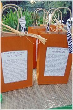 Safari party warning labels ;)
