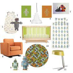 robot items for nursery