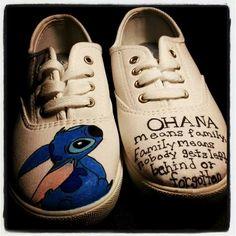 Stitch Ohana hand painted shoes
