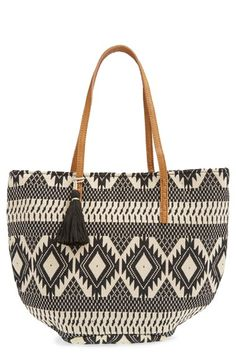 Sole Society Geometric Canvas Tote available at #Nordstrom