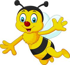 Vector illustration of Cartoon bee waving hand isolated on white background , Urdu Stories For Kids, Moral Stories For Kids, Cartoon Bee, Cartoon Pics, Cartooning 4 Kids, Bee Pictures, Bee Pics, Bee Clipart, Islamic Cartoon