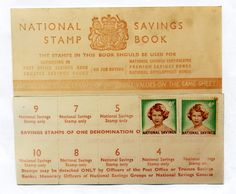National Savings Stamps - we could take 6d a weeks to school and get a stamp added to our book. When we had saved up enough we could exchange this at the Post Office for a national Savings Certificate. If you could afford it you could buy stamps valued at half a crown (2/6) which featured Prince Charles