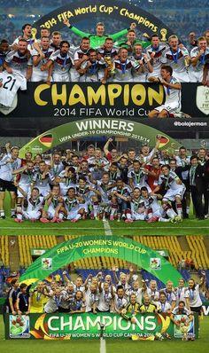 National Team Men and Women Win! U19 team win! #GERMANY2014 #footballislife