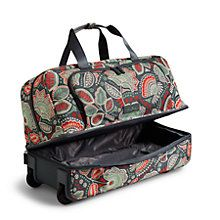 Lighten Up Wheeled Carry On Luggage in Nomadic Floral | Vera Bradley
