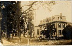 Cambridge NY, Main Street ~ East 1920s Postcard - Real Photo - St. Patricks Church and Rectory  - NYCA0047 - Richard Clayton Photography - Cambridge Photo - Vintage Photographs
