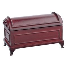 Domed Blanket Chest - Shop by Room Bedroom Wooden with a rich mahogany finish and inset panel detailing. Lid opens to reveal a removable two compartment storage tray. Resin Patio Furniture, Chest Furniture, Bedroom Furniture Sets, Furniture Making, Cool Furniture, Painted Furniture, Furniture Design, Furniture Projects, Home Theater Furniture