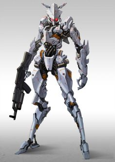 Come here if you have a mecha addiction, or you want to have a mecha addiction ^_^. Robot Concept Art, Armor Concept, Robot Art, Character Art, Character Design, Mecha Suit, Humanoid Robot, Futuristic Armour, Cool Robots