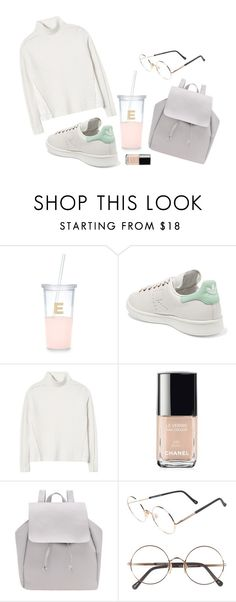 """""""Untitled #1760"""" by katerina-rampota ❤ liked on Polyvore featuring Kate Spade, adidas Originals, Rebecca Taylor, Chanel and Sunday Somewhere"""