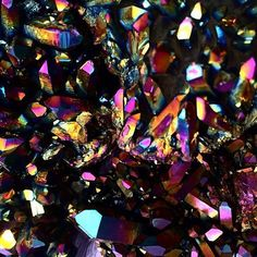 #RP from @themagicmoon518 of Their Stunning collection of Titanium Quartz!! The Magic Moon is a dope Metaphysical Store in Saratoga Springs NY where I got my foundation on Paganism studies  Candle Magic. So much love - if you're ever upstate paying them a visit is worth your time - especially if you're on the mystical path. Crystals Candles Clothing Books Oils Tarot/Astrology Readings & the warmest passionate dedicated staff awaits to guide you in the right direction 20  years in action…