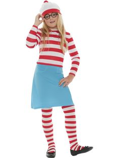 Boys Kids Unisex Wheres Wally Waldo Fancy Dress World Book Day Outfit School UK