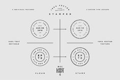 Monday Mania! Free Graphics!! Stamped by Misc. Loot Co. on @creativemarket