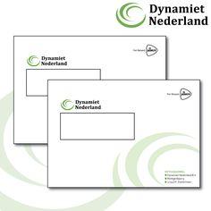 Grafische vormgeving en drukwerk C5 enveloppen voor Dynamiet Nederland! www.omega-design.nl