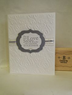 Stampin' Up! CAS Card by CountryCharmCreations: Wedding Card