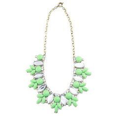 t+j Designs: Resin Crystal Necklace Mint, at 34% off!45$