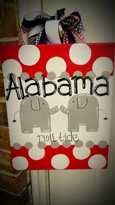 Alabama Door Hanger by DoodlebugArtCreation on Etsy, $27.00