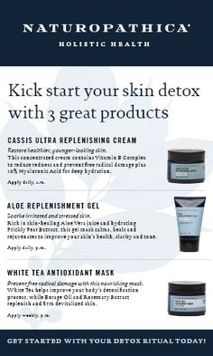 Share our new DETOX product card, featuring 3 top Naturopathica products to kick start a skin detox!