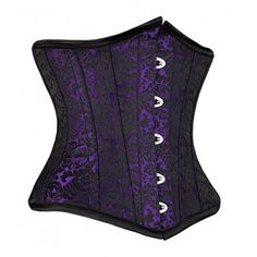 Burlesque purple underbust corset