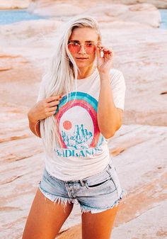 0a87cef82637 Badlands Tee   vintage style 70s t shirt   womens graphic tees   triblend  tshirt western