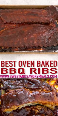 Oven Barbecue Ribs [Video] - Sweet and Savory Meals - - Oven Barbecue Ribs are juicy, super flavorful and fall off the bone tender. Coated with easy to make dry rub first, then seasoned with barbeque sauce mixture, making them irresistible. Oven Pork Ribs, Oven Baked Ribs, Barbecue Pork Ribs, Barbeque Sauce, Oven Ribs Dry Rub, Best Oven Ribs, Babyback Ribs In Oven, Bbq Rib Rub, Best Bbq Ribs