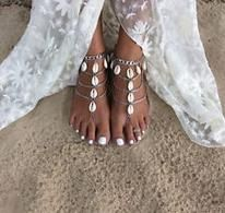 Vintage Bohemian Style Multilayer Cowrie Shell Anklets Women Barefoot Beach Sandals Source by : gearhunter. Anklet Jewelry, Beach Jewelry, Body Jewelry, Chain Jewelry, Fine Jewelry, Jewelry Rings, Shell Jewelry, Bohemian Jewelry, Glass Jewelry