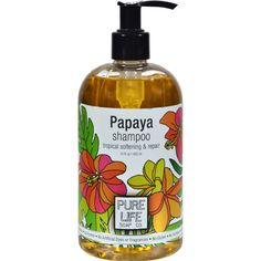 Pure Life Shampoo Papaya - 14.9 fl oz - Pure Life Shampoo Papaya Description:    For Coarse or Brittle Hair  Tropical Papaya Extract to Clean Repair and Soften Damaged Hair  Made with Certified Organic Ingredients  Completely Free of: Parabens Alcohol Petroleum Artificial Dyes and Fragrances Papaya naturally moisturizes damaged or brittle hair leaving it soft and manageable while lovingly repairing and renewing for your day. Free Of Parabens alcohol petroleum artificial dyes and fragrances…