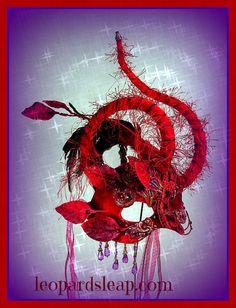 Red Heart Masquerade Mask by Judith Rauchfuss