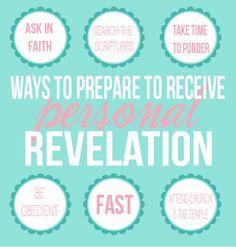 Come Follow Me Handouts:: How Do I Receive Personal Revelation