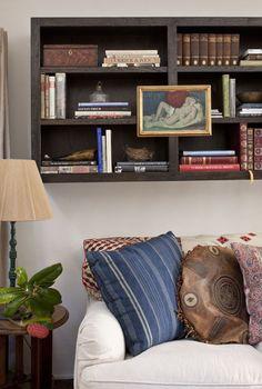 floating bookcase by Schuyler Samperton Interior Design