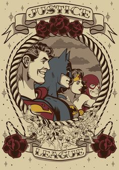 JUSTICE LEAGUE TATTOO on Behance