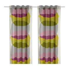Ikea curtains - Malin Figur. use in the back bedroom with one raspberry wall accent wall.