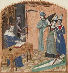 The Hague, KB, 71 G 61. Triboulet, Complainte contre la Mort. Central France; c. 1480