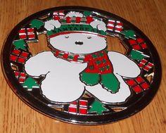 1986 Dayton Hudson Santa Bear Silverplate Enamel Kitchen Silver Plate