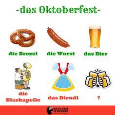"""#Vocabulario para el #Oktoberfest Adivina cómo se le llama a la última imagen? Pista: Es el tradicional """"brindis"""" con el que se inicia el Oktoberfest. #IchLiebeDeutsch #MexicanosEnAlemania #Aleman #AprenderAleman"""