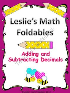 Adding and Subtracting Decimals Math Foldable from Leslie's Math Foldables on TeachersNotebook.com -  - A great foldable to use in your interactive notebooks. Includes steps and examples. Great resource!!!