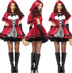 Ladies Sexy Little Red Riding Hood Fancy Party Outfit Halloween Party Costumes #unbrand #Dress
